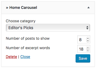 home carousel