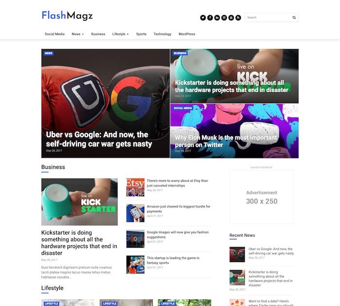 FlashMagz Theme