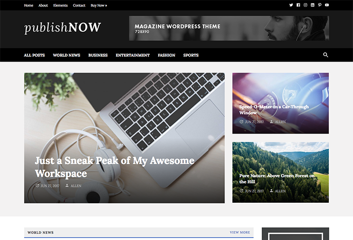 PublishNow Theme