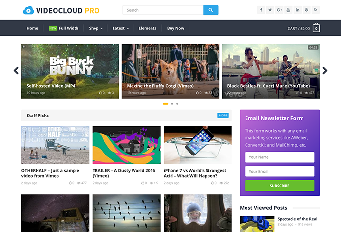 VideoCloud Theme