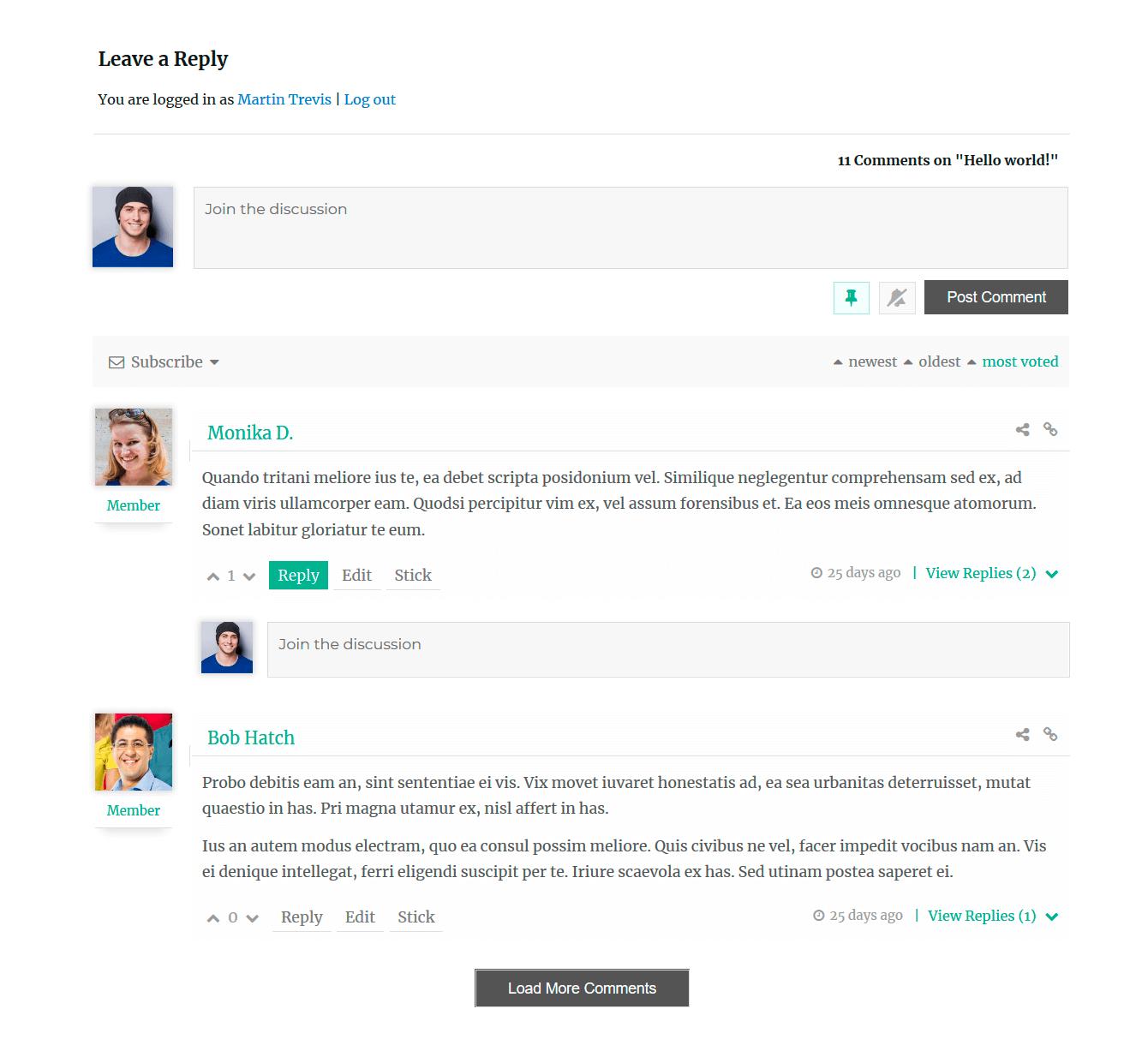 comments plugins