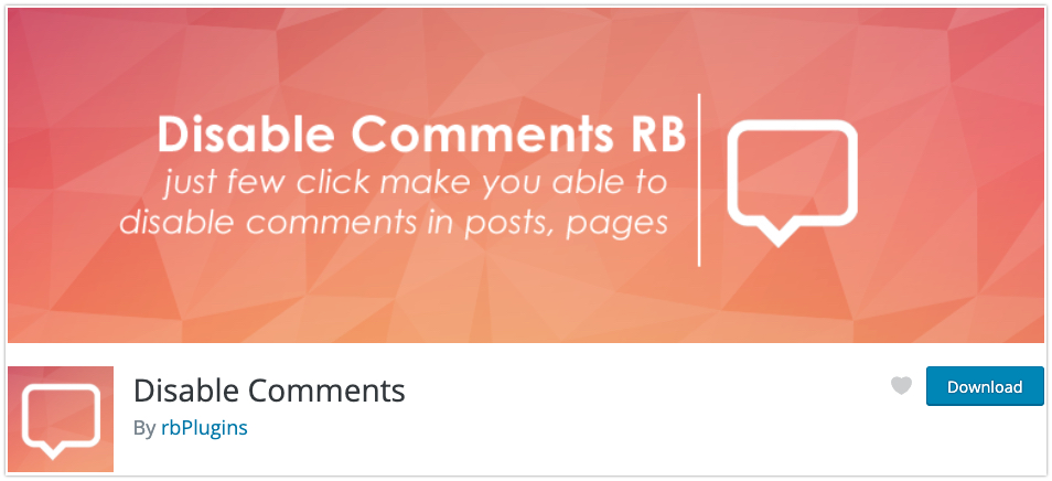 How to Disable Comment in WordPress